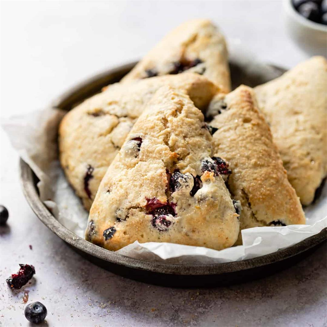 Easy & Fluffy Blueberry Scones UK Measurements
