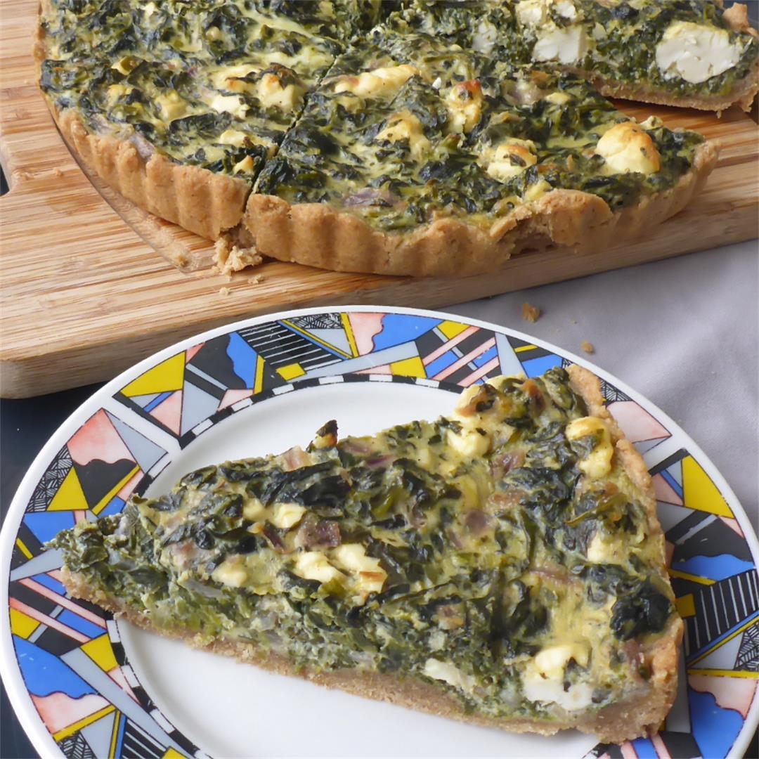 Spinach Feta Quiche With Cream Cheese