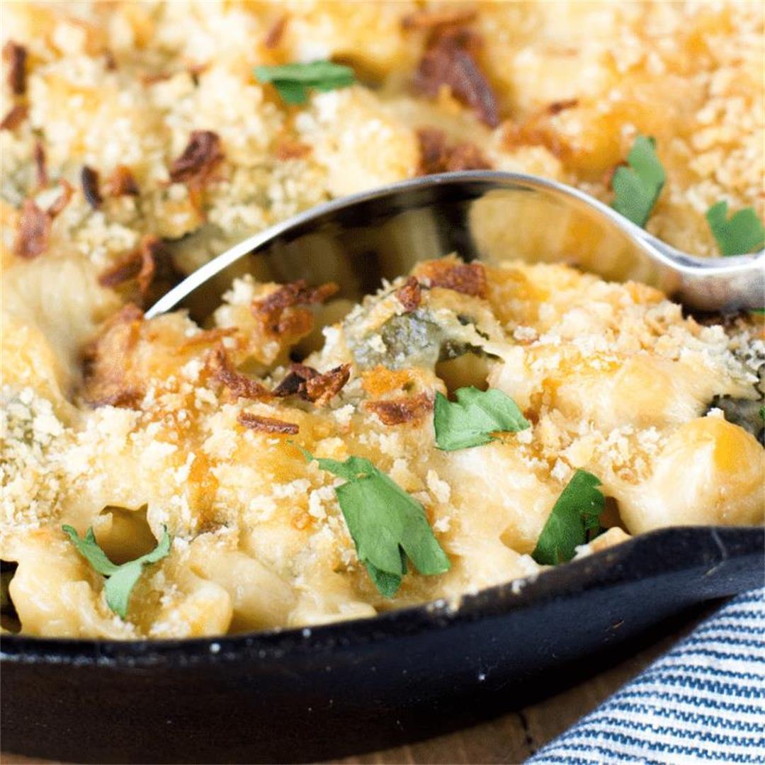 Healthy Spinach Mac & Cheese