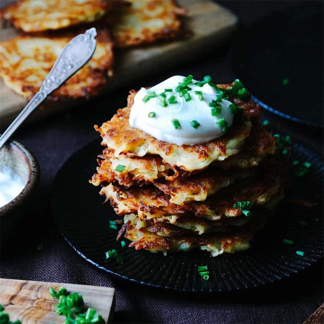 Classic German Potato Pancakes with Onion