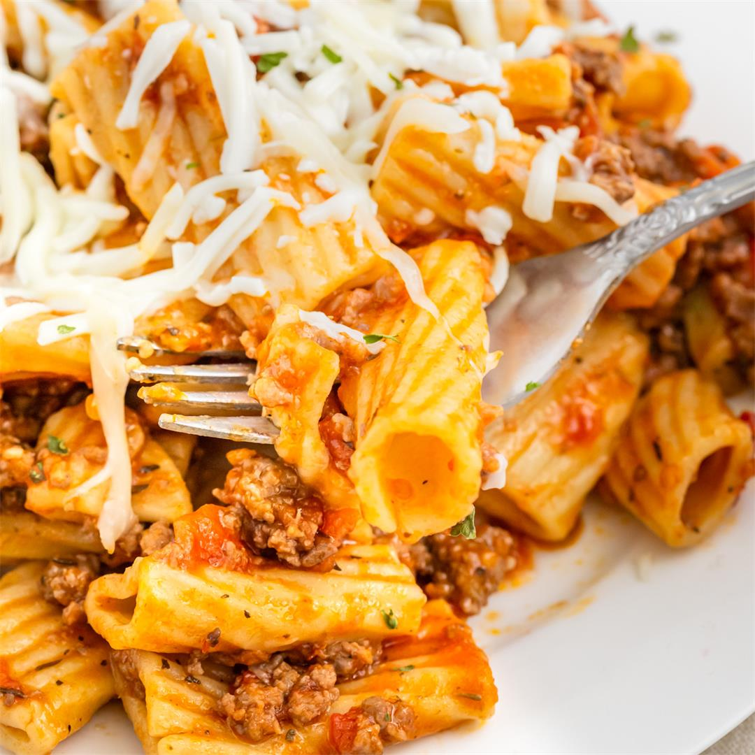 Inauthentic Pasta Bolognese