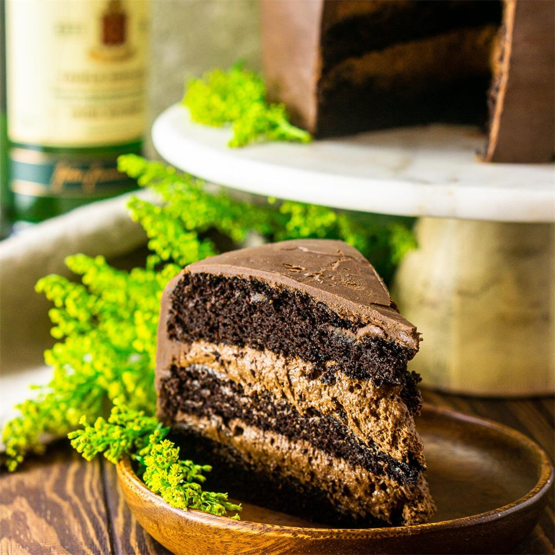Irish Whiskey Chocolate Cake With Baileys Mousse