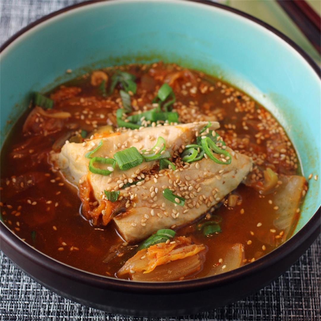 Fish and kimchi stew