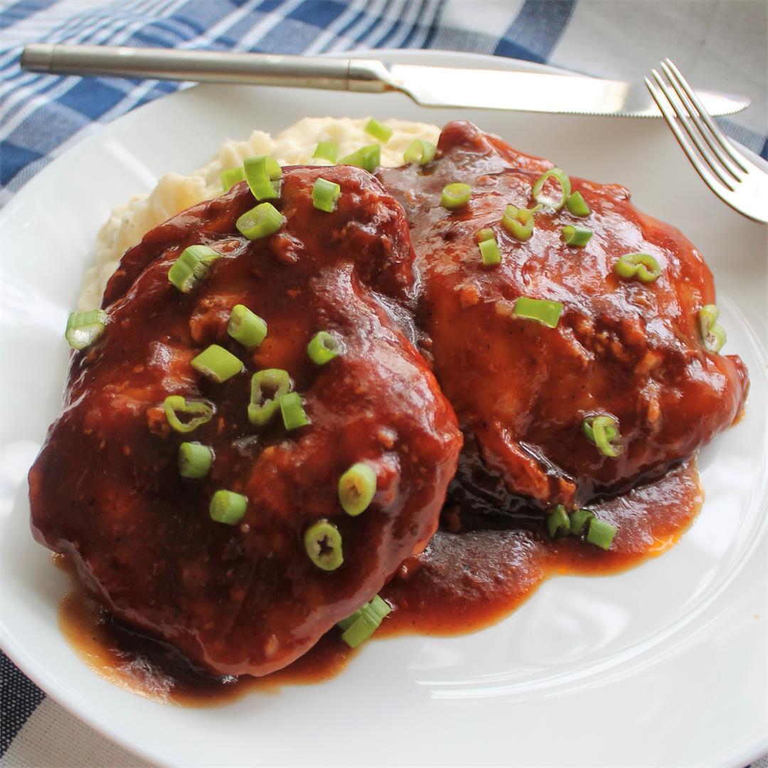 Saucy Crockpot BBQ Chicken