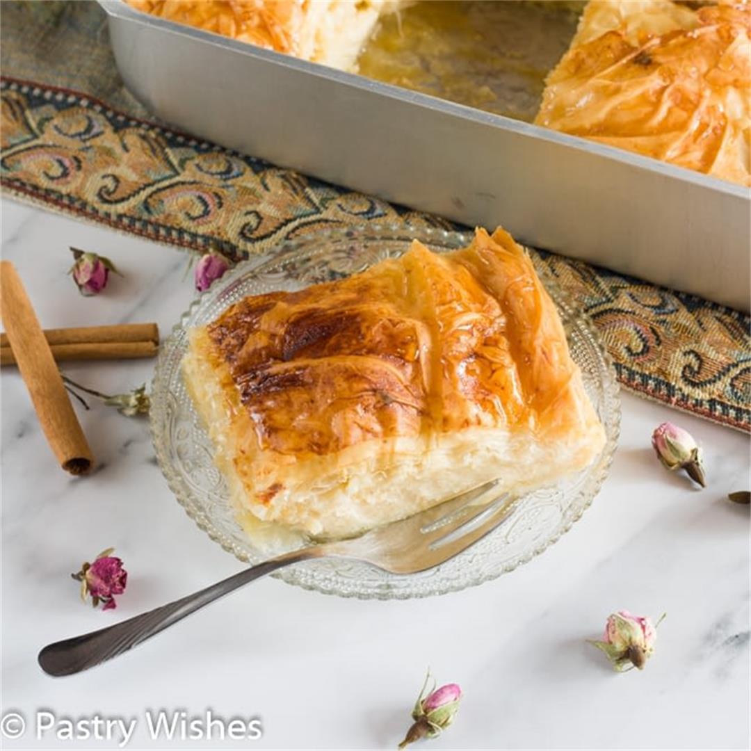 Traditional Greek Custard Pie Galaktoboureko (Easy + Tips) |