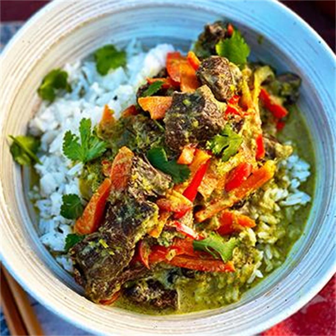 Wagyu Beef Cheek Thai Green Curry with Rice