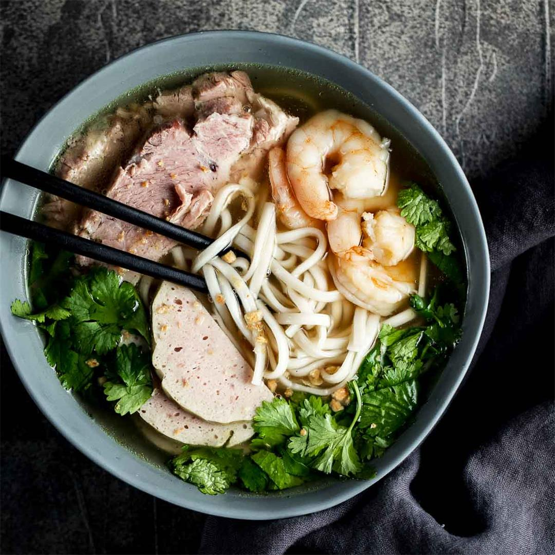 Banh Canh Soup (Vietnamese Thick Noodle Soup)
