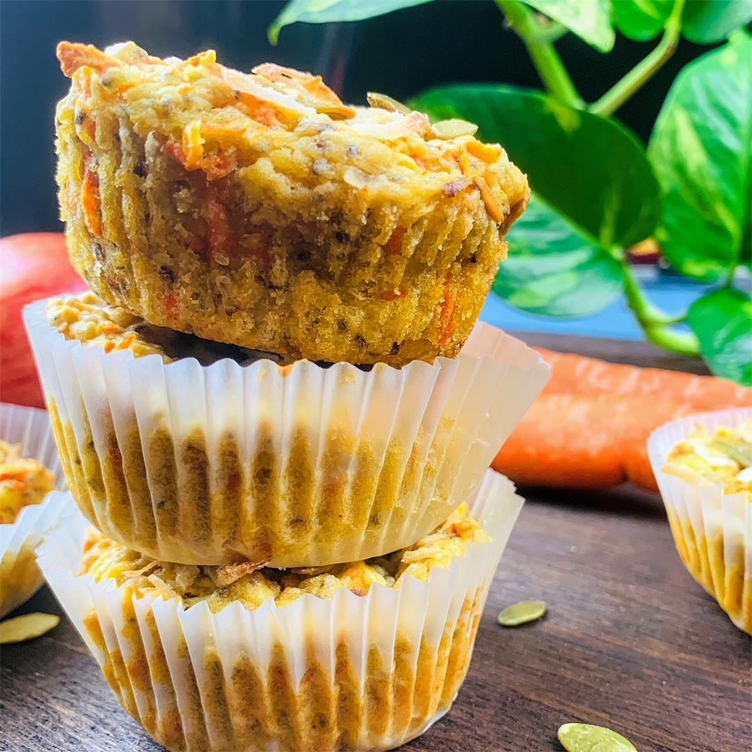 Healthy Breakfast Muffins with Veggies,fruits & nuts
