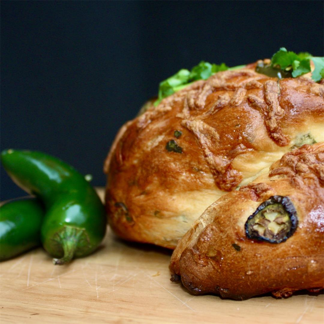 Chorizo Stuffed Bread! Jalapenos, Cheddar, and the Best Bread-M