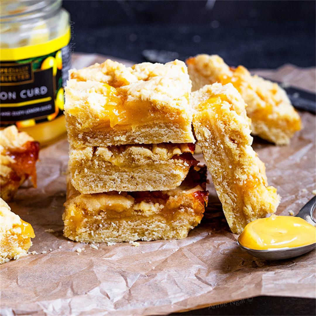 Lemon Curd Crumble Bars