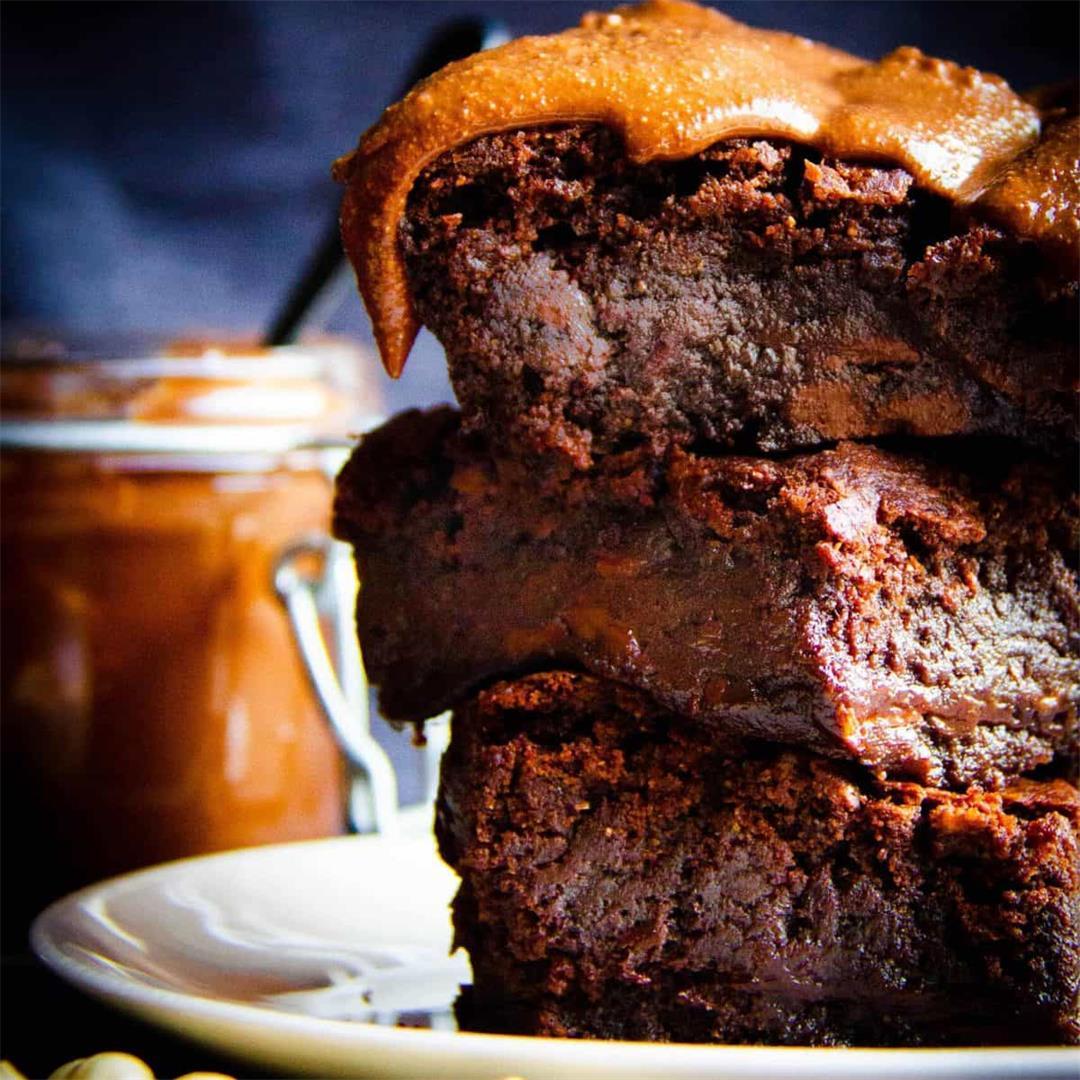 The Best Vegan Chocolate Hazelnut Brownies