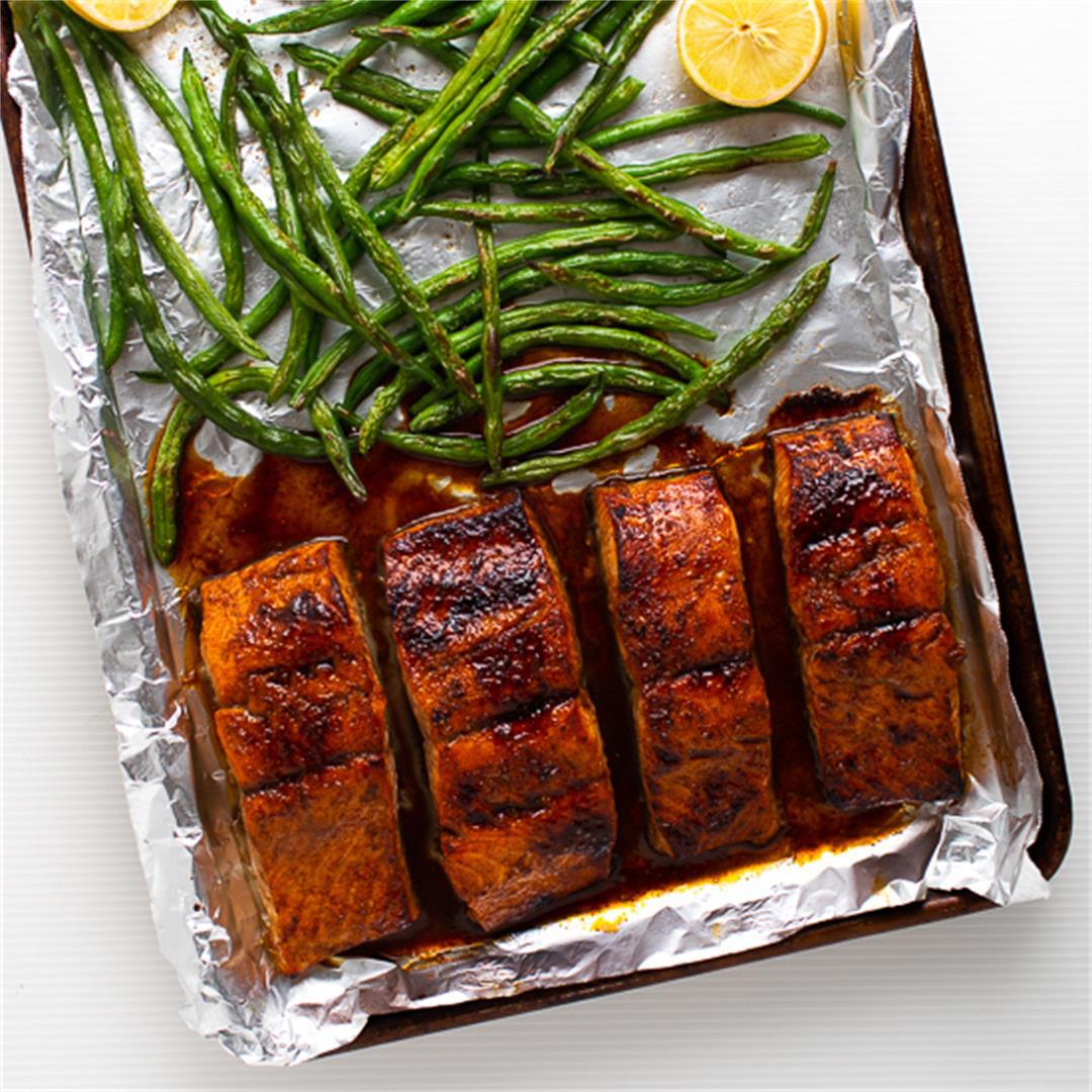 Five Spice Honey Soy Glazed Salmon