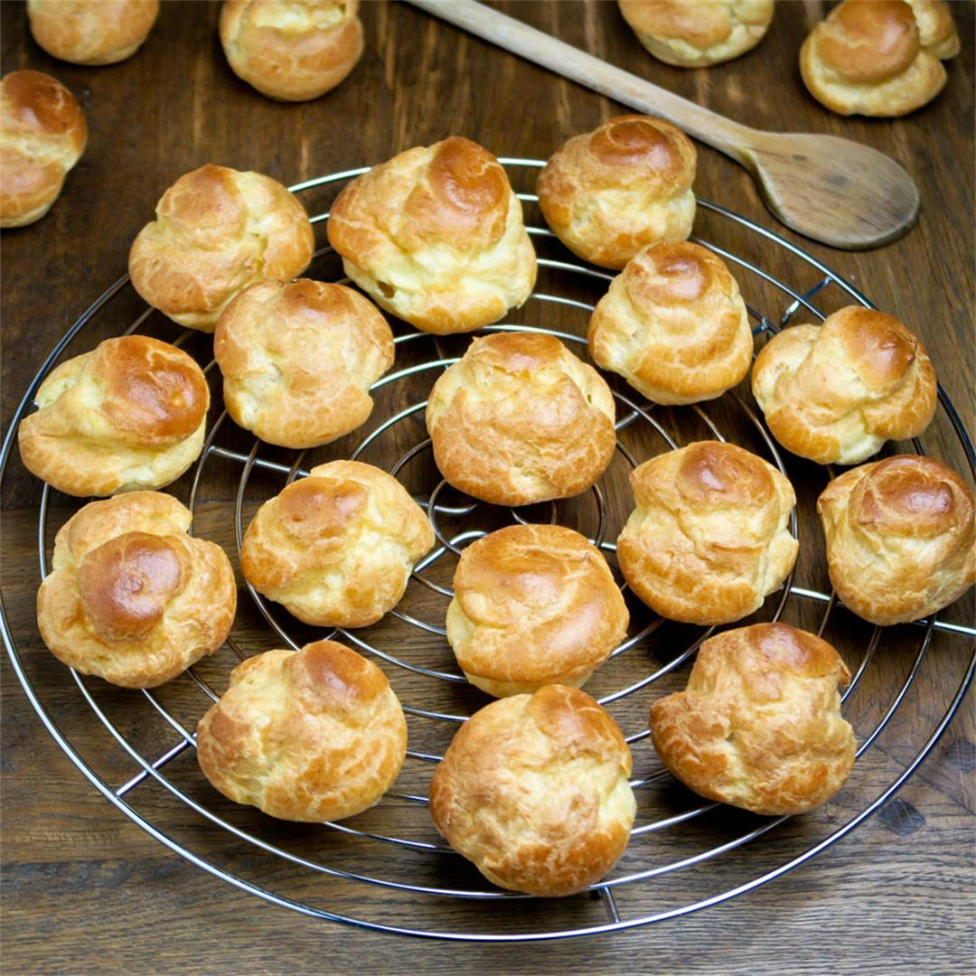 These light and golden choux buns are really easy to make