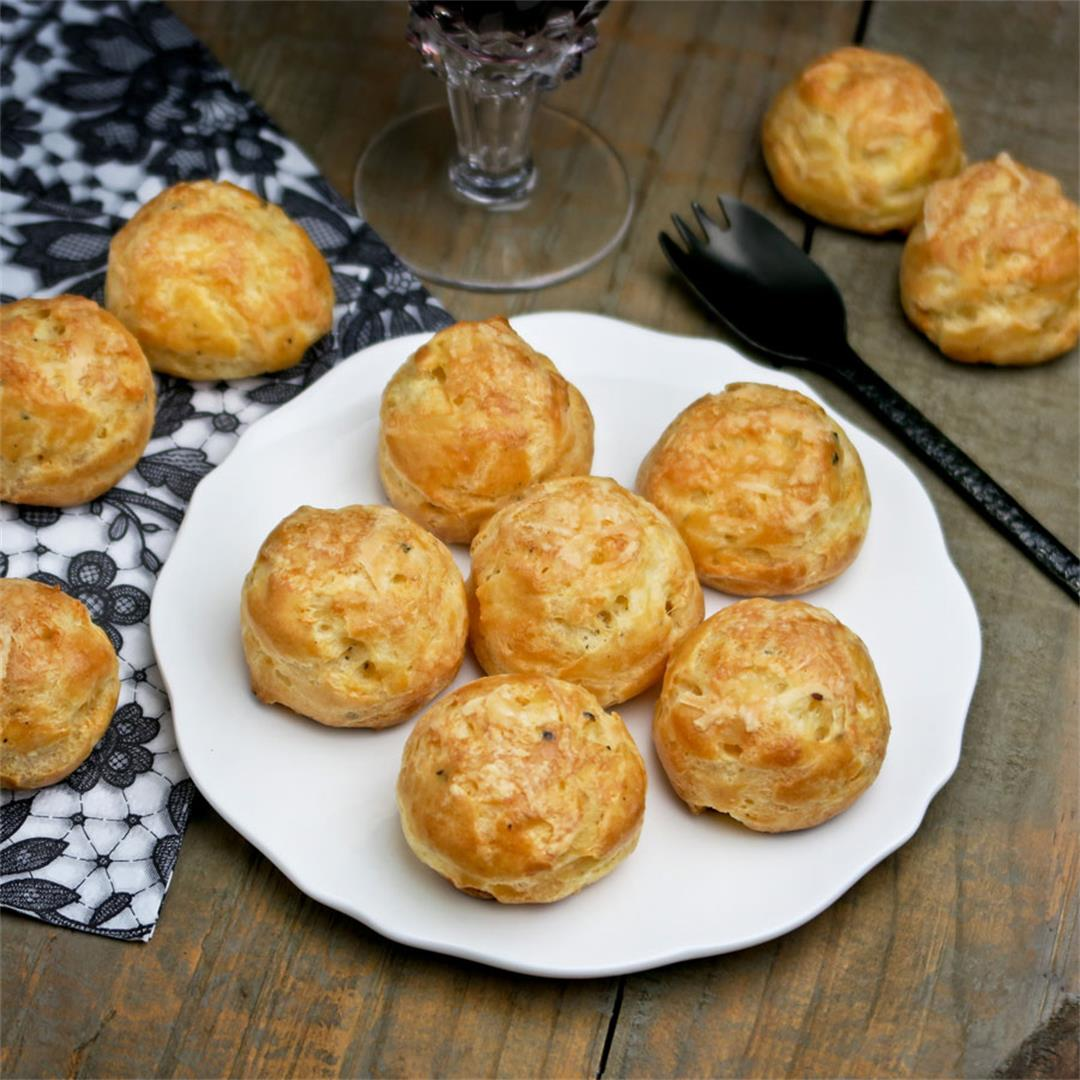 Gougères: light yet cheesy French cheese puffs