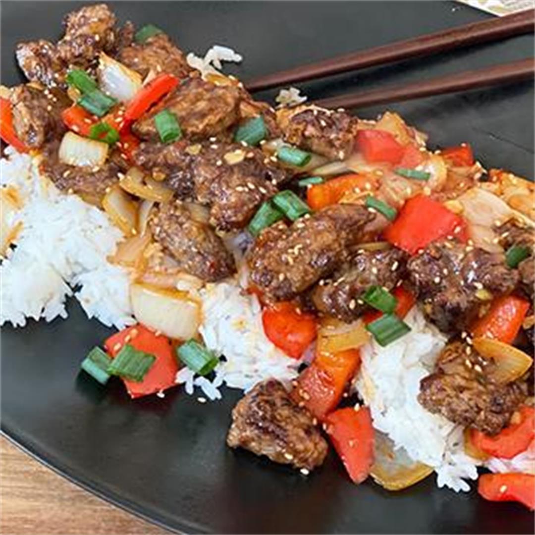 Spicy and Crispy Wagyu Beef with Jasmine Rice