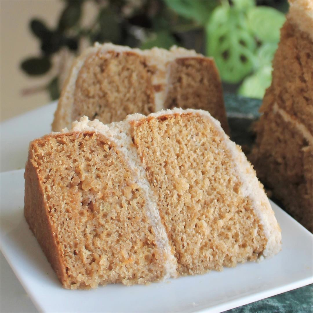 Spice Cake with Brown Sugar Buttercream Frosting