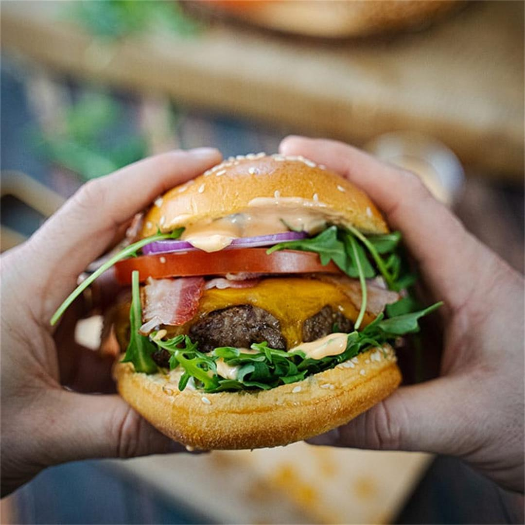 Kick-ass grilled burger recipe