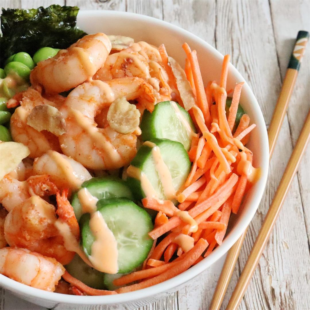 DIY Shrimp Sushi Bowls