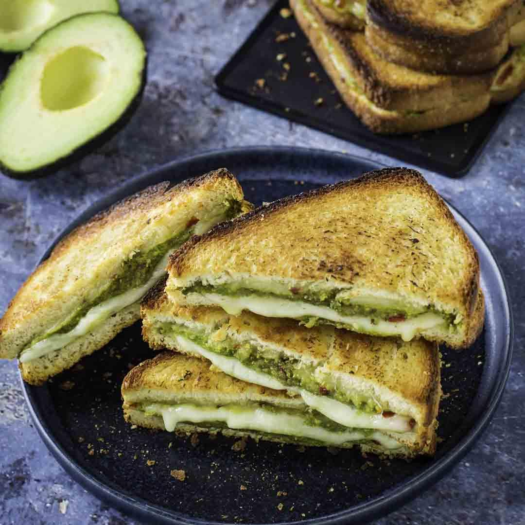 Air Fryer Avocado Grilled Cheese