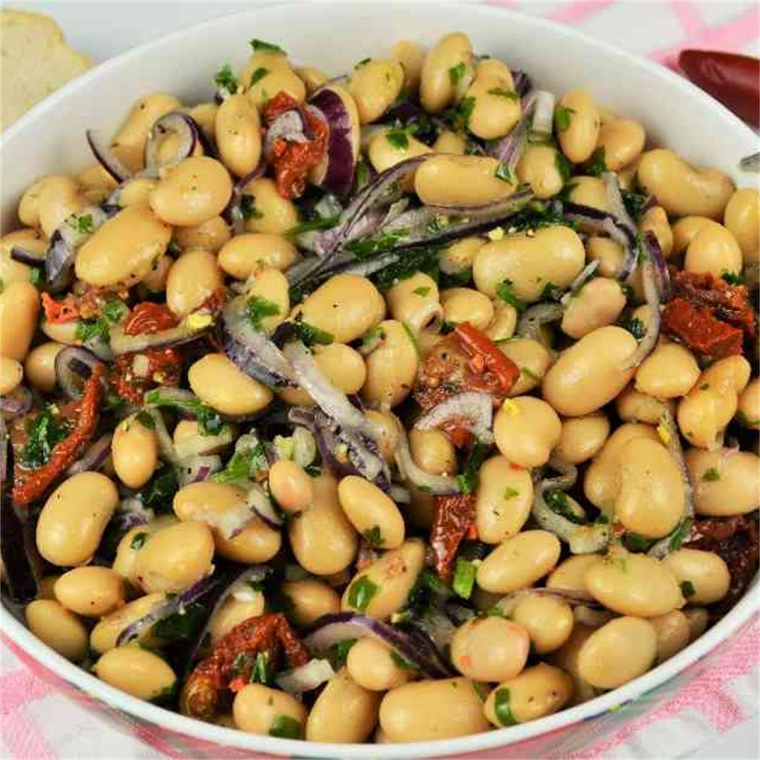 Simple Butter Beans Salad Recipe-Timea's Kitchen