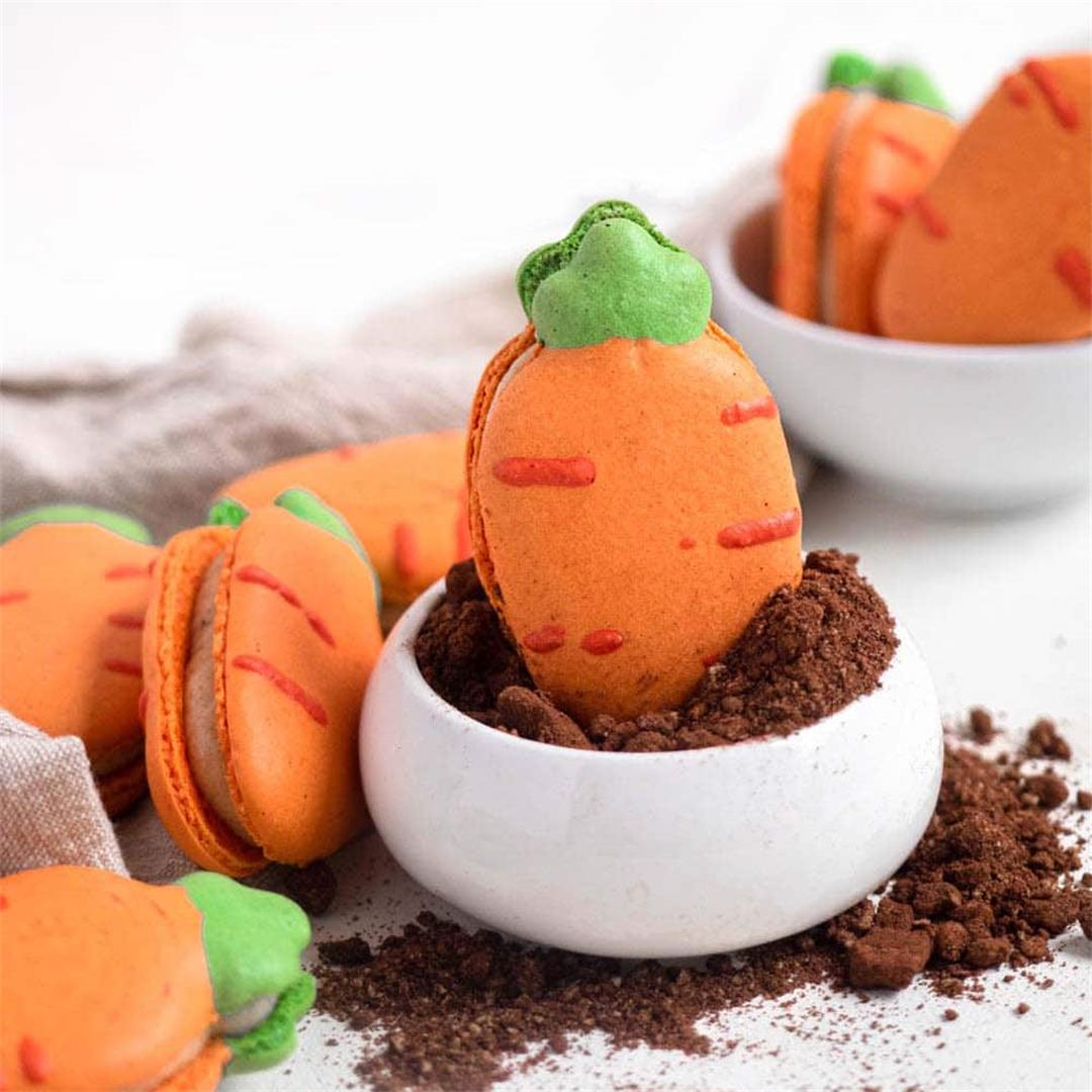 Carrot Cake Macarons (Easter Cookies!)