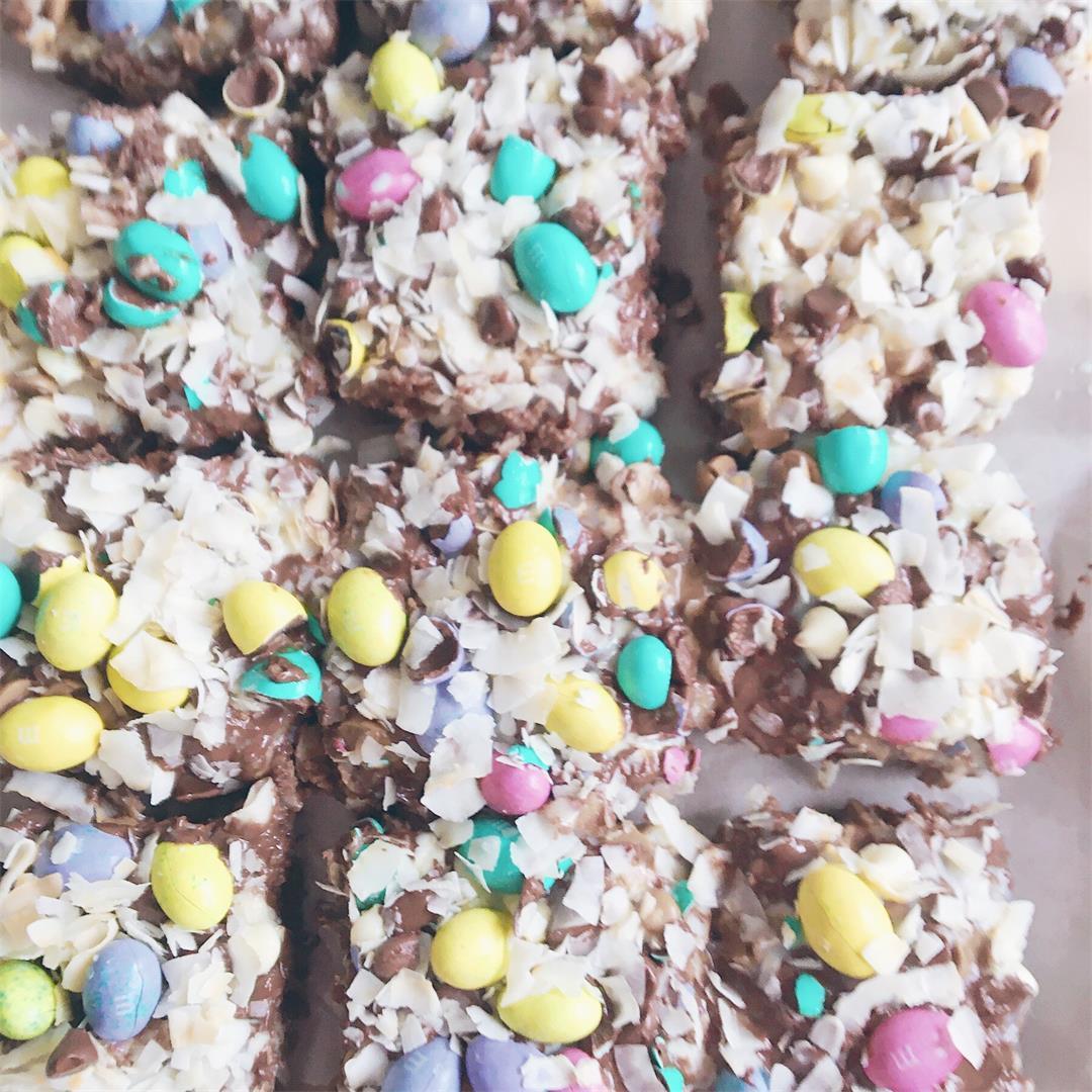M&M Magic Brownie Bars