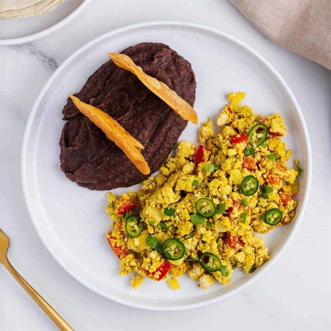 Huevos a la Mexicana (Vegan Tofu Scramble Recipe)
