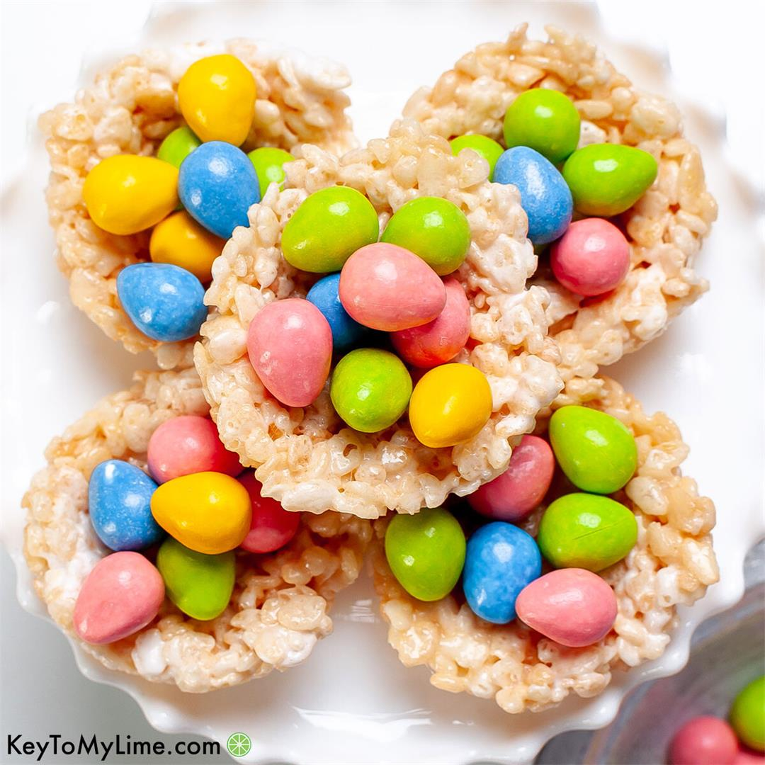 Rice Krispie Nests {BEST No-Bake Easter Treat}