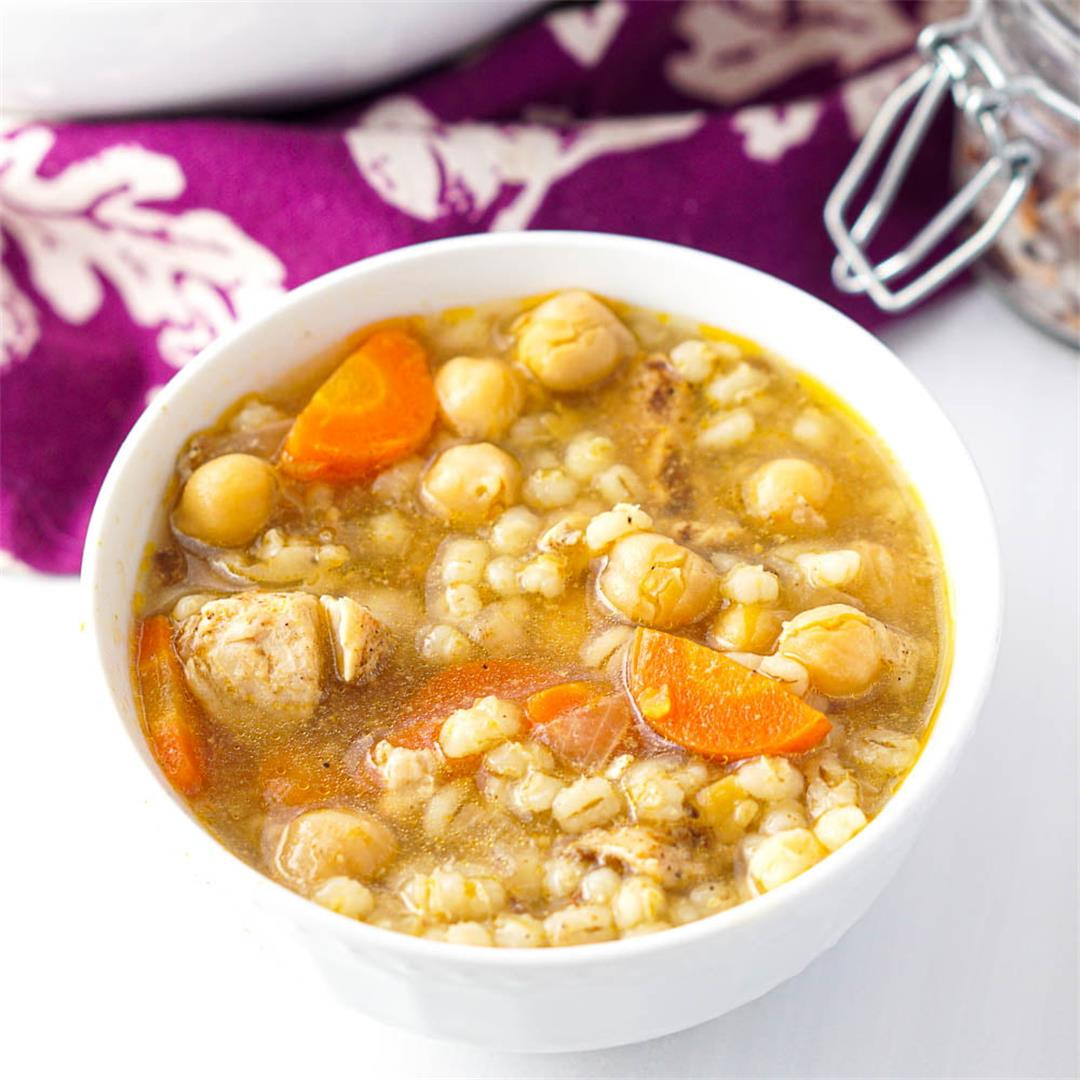 Instant Pot Chicken Barley Soup Recipe