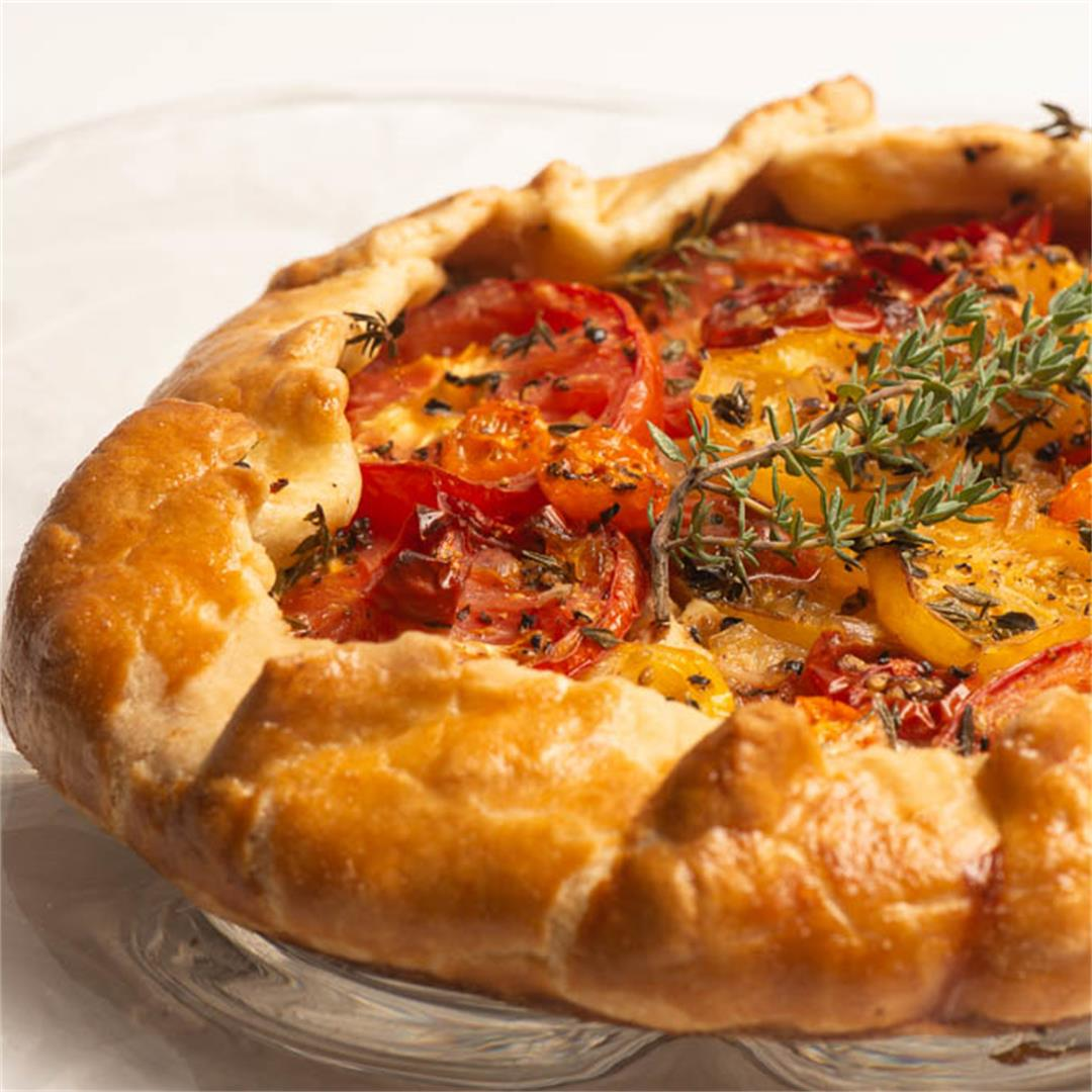 Tomato Galette With Honeyed Goat Cheese