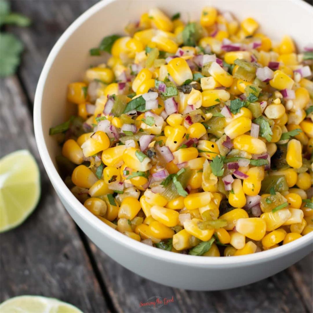 Chipotle Copycat Roasted Chili-Corn Salsa