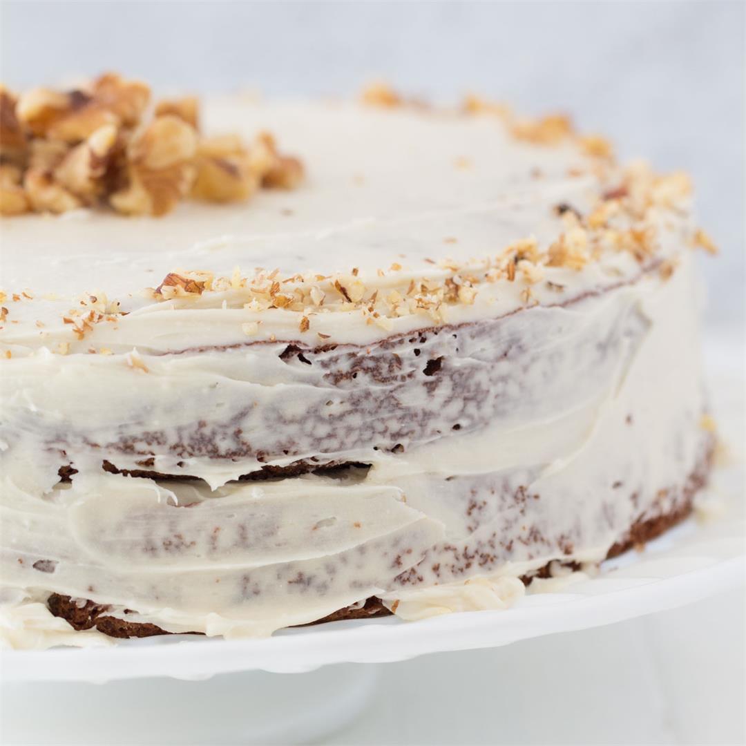 Oat Flour Carrot Cake