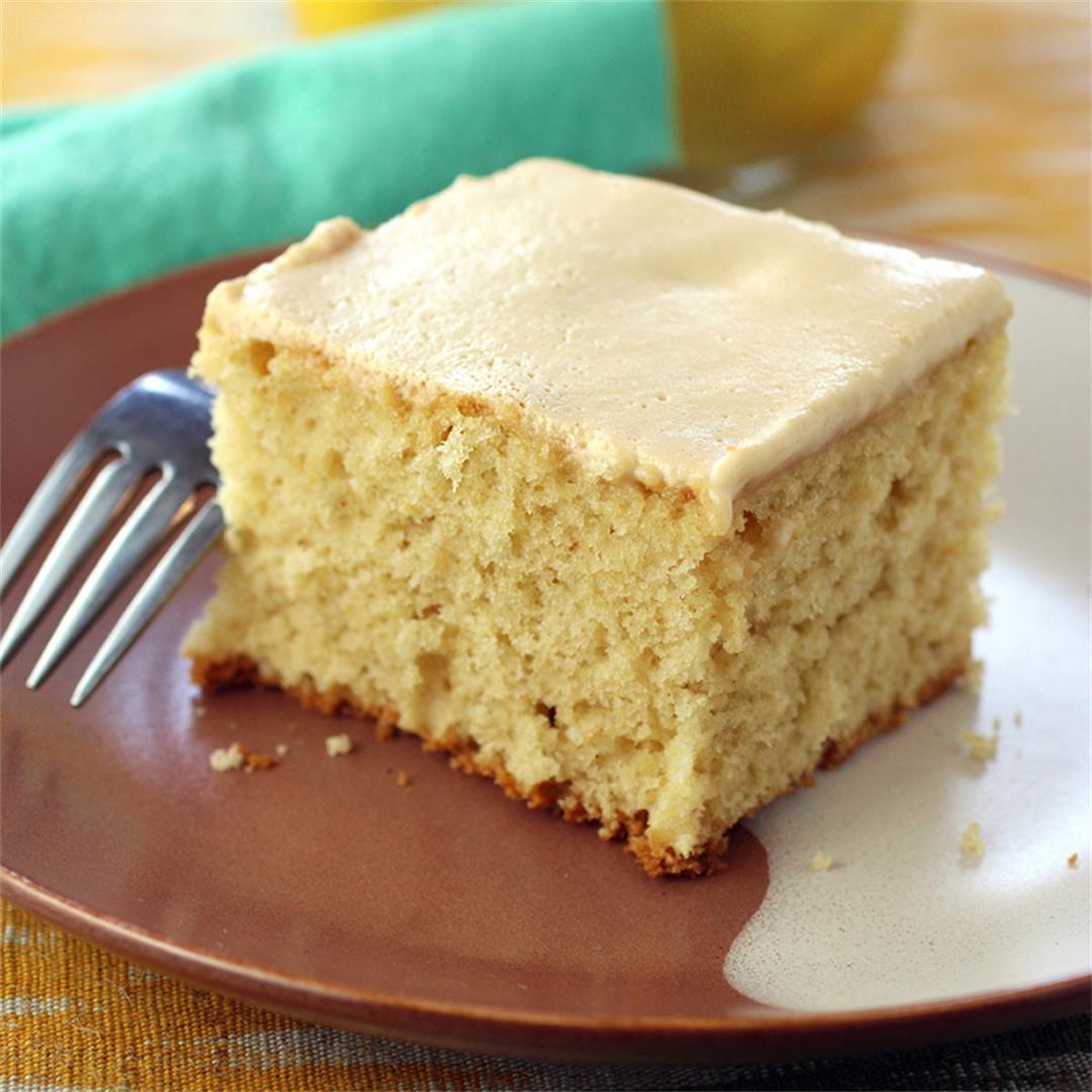 Preserved lemon sheet cake
