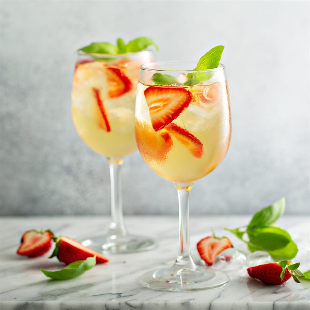 White Wine Sangria With Strawberries