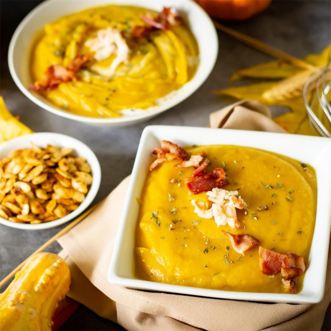 Crab and Bacon Pumpkin Bisque