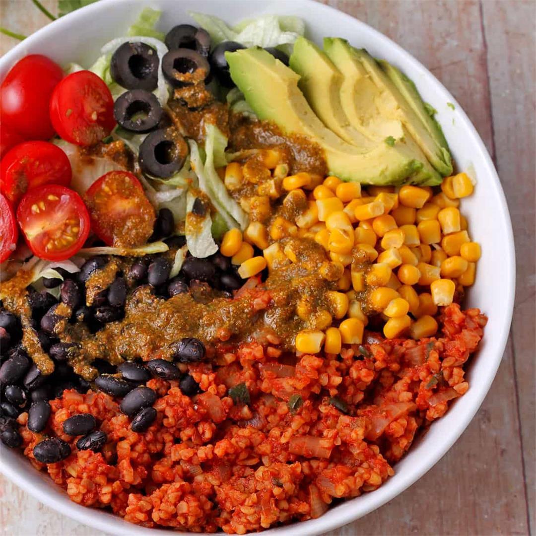 Mexican bulgur bowls
