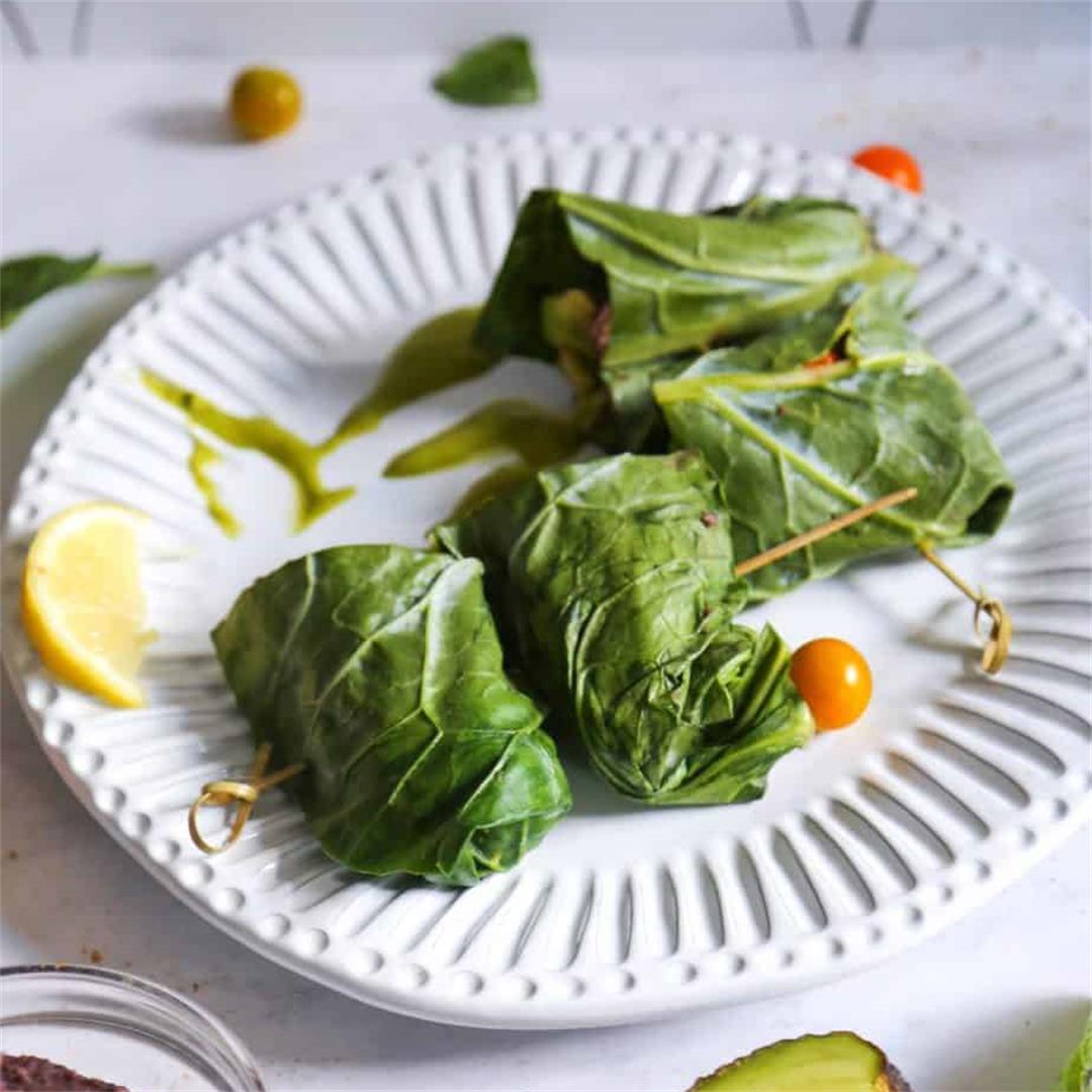 Vegan Collard Green Wraps