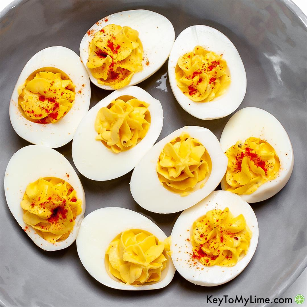 Easy-Peel Instant Pot Deviled Eggs Recipe {BEST Filling}