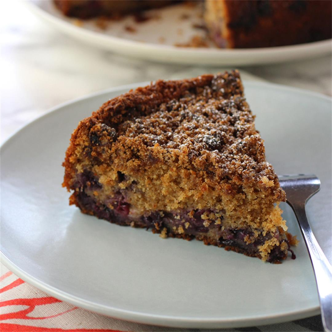 Blueberry-Miso Crumb Cake