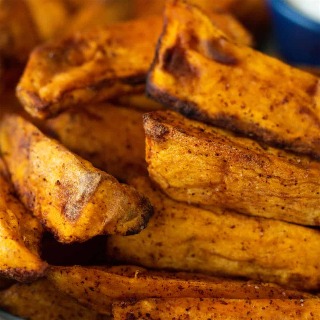 Air Fryer Sweet Potatoes with Cinnamon