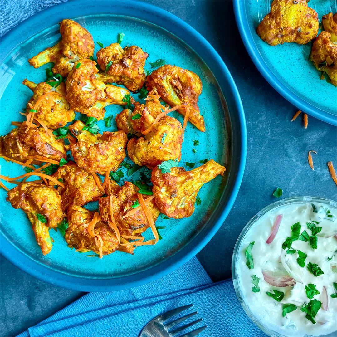 Easy roasted tandoori cauliflower