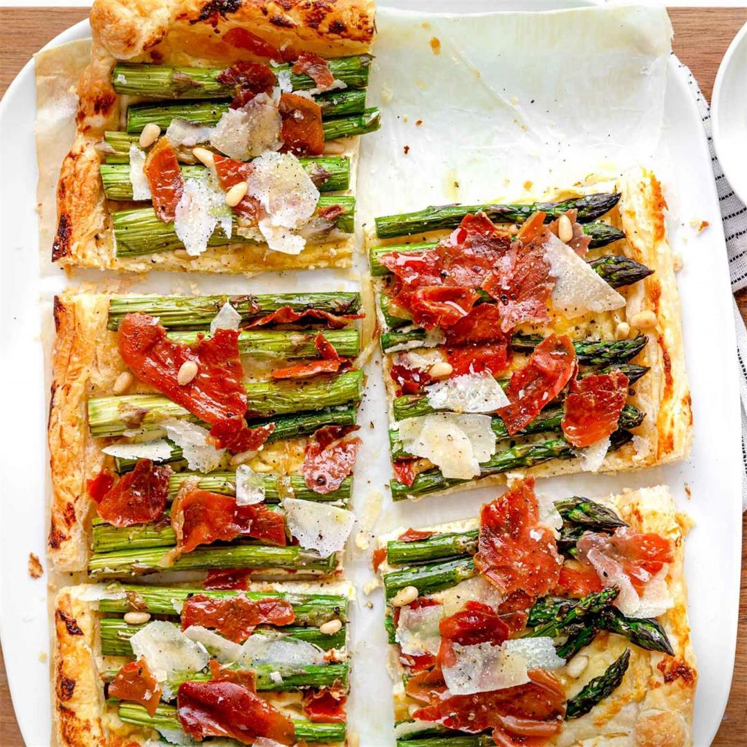 Asparagus Tart with Prosciutto