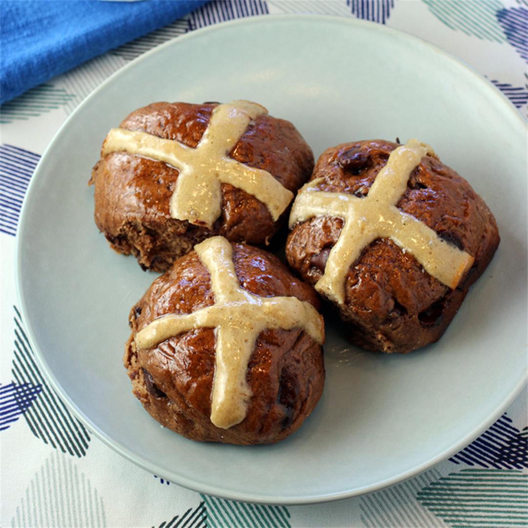 Chocolate-Chip Hot Cross Buns