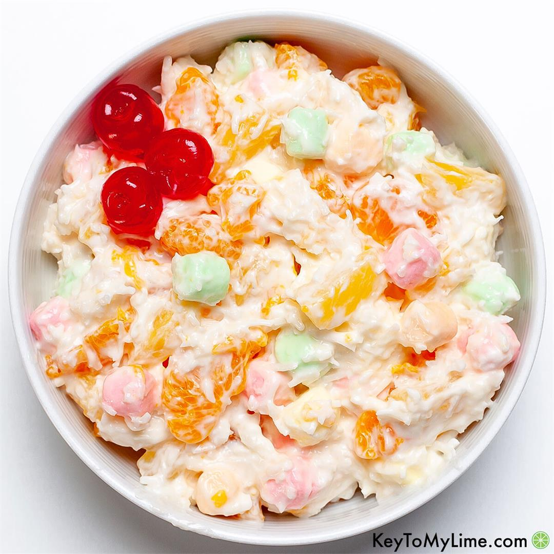 Grandma's 5 Cup Salad Recipe - Ambrosia Fruit Salad