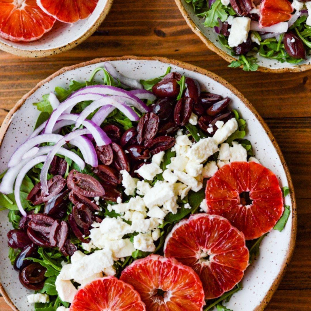 Blood Orange Arugula Salad Recipe with Feta