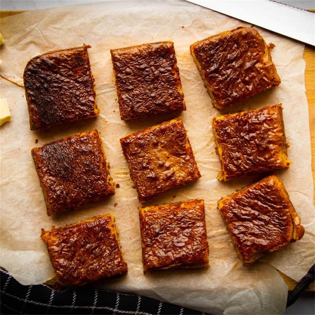 Seriously Good Vanilla Brownies
