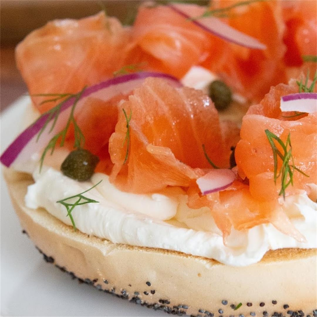 Salmon Lox Recipe. Make Your Own Bagels And Lox For Sunday Brun