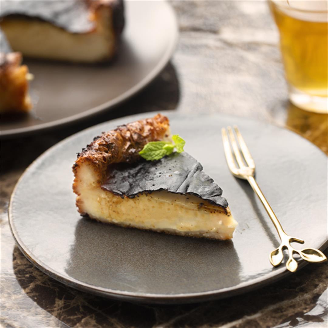 Vegan Burnt Basque Cheesecake