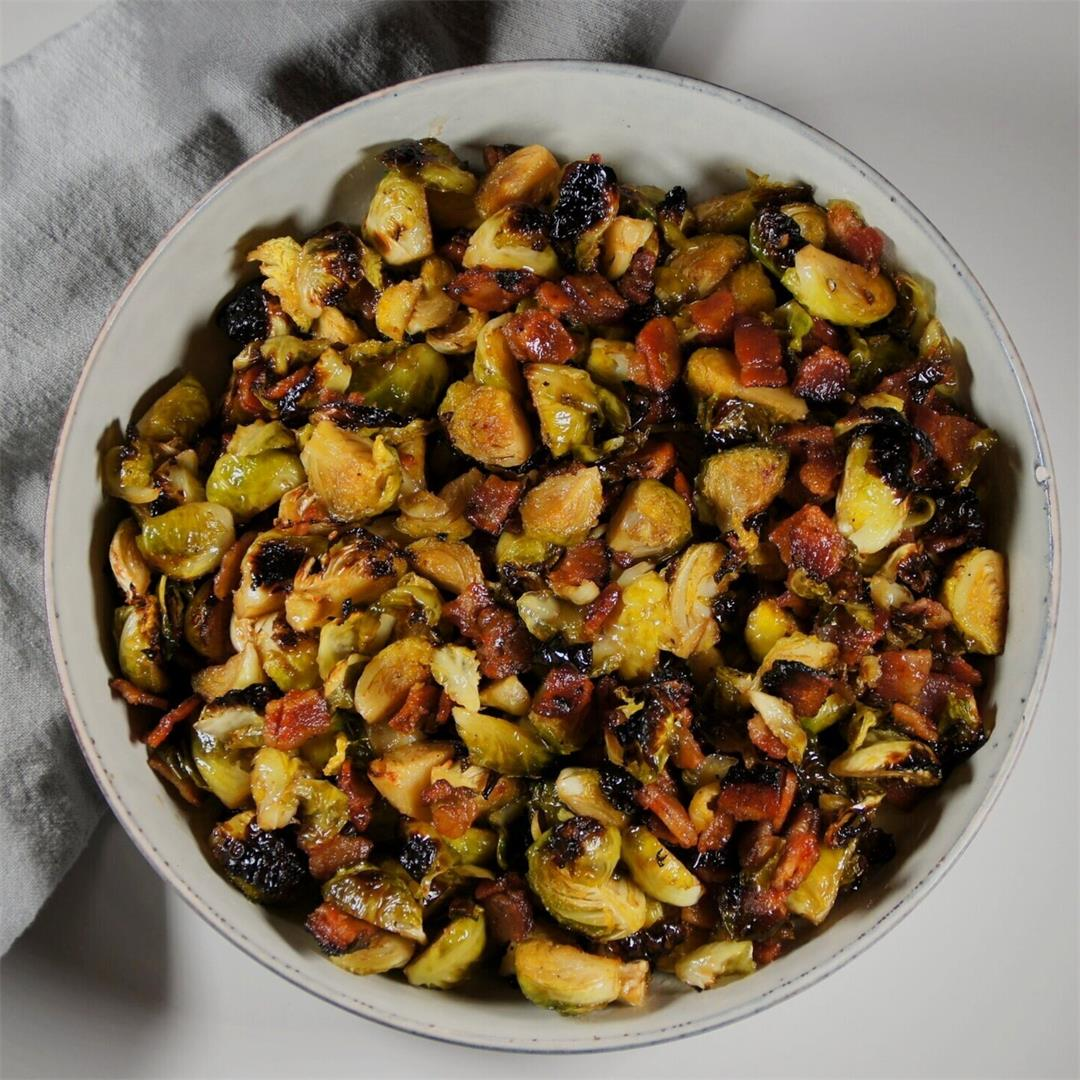 Balsamic Bacon Brussel Sprouts — Land of 10,000 Recipes