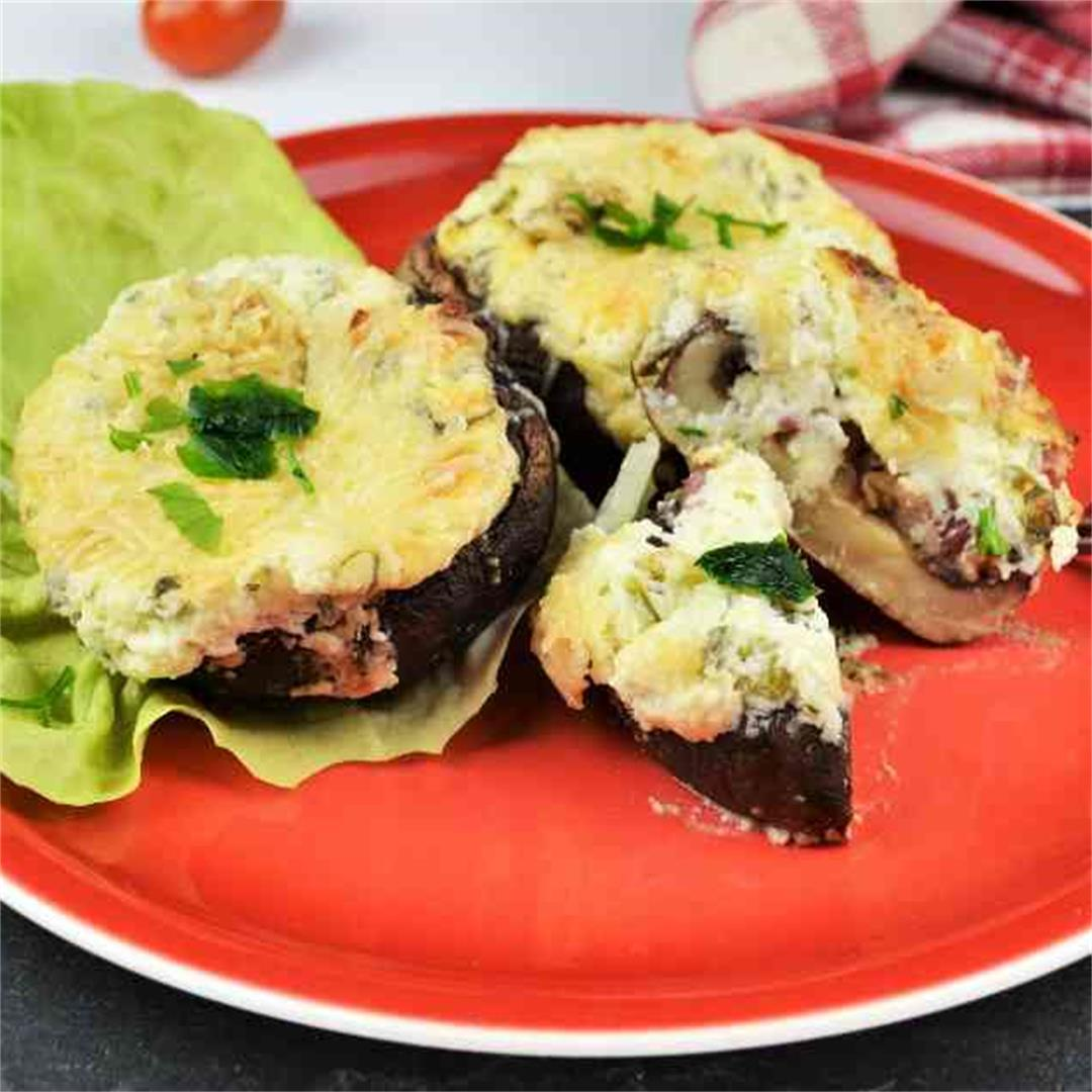 Best Stuffed Mushrooms With Cheese And Bacon-Timea's Kitchen